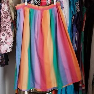Gorgeous 1970s-80s Rainbow Twirl Skirt